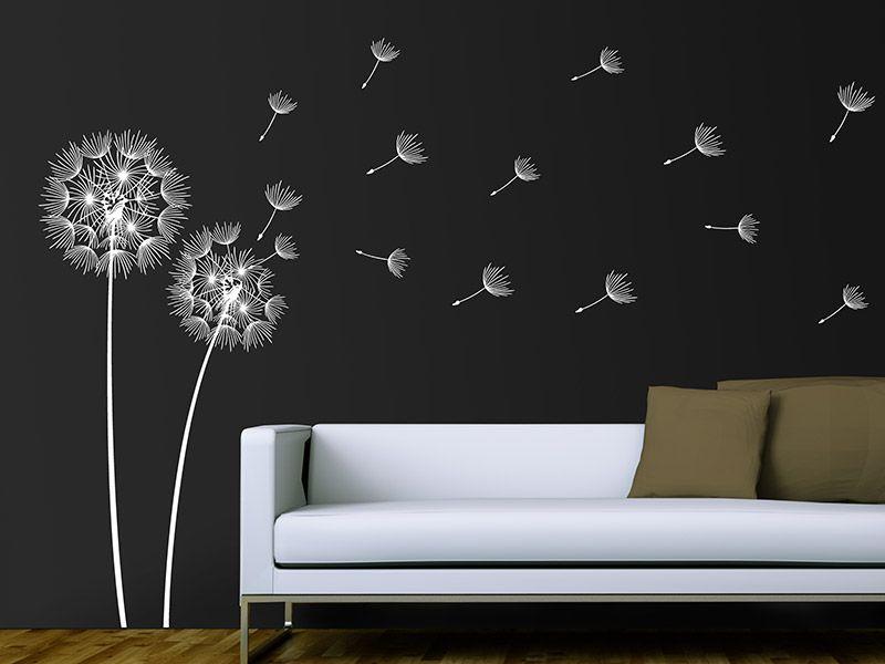 wandtattoo pusteblumen im wind - Fantastisch Wandtattoo Wei