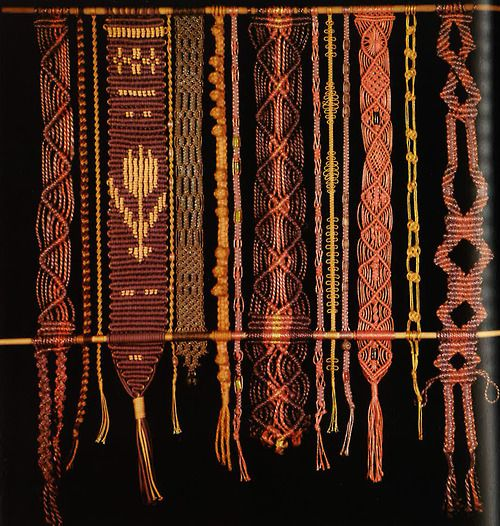 From The Macrame Book By Helene Bress Macrame Textiles