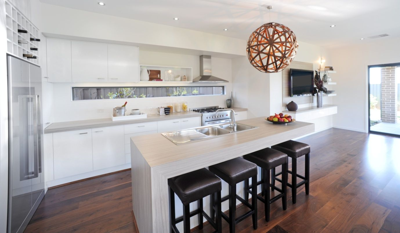 Off White Kitchen Images white kitchen with timber flooring. off white bench. | house
