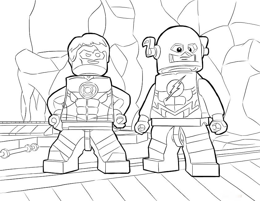lego dc coloring pages | Cartoon | Pinterest