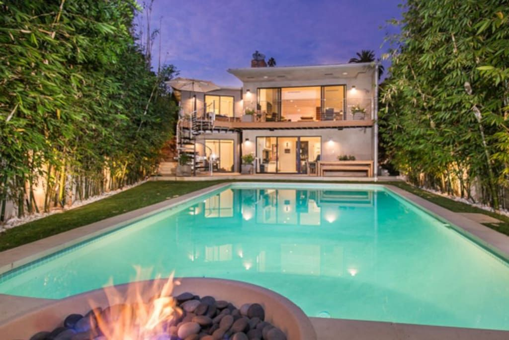 Modern Los Feliz Retreat Los Angeles Ca Luxury Dream Home Homedesign Pool Modernhome Luxuryhome Dreamhome Vacation Home Condo Rental Vacation Villas