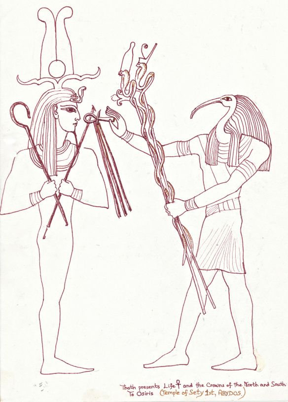 Image result for thoth and osiris