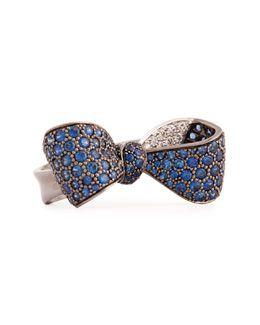 Mimi So Bow Large 18k Gold Sapphire & Diamond Ring EcNlICmdK