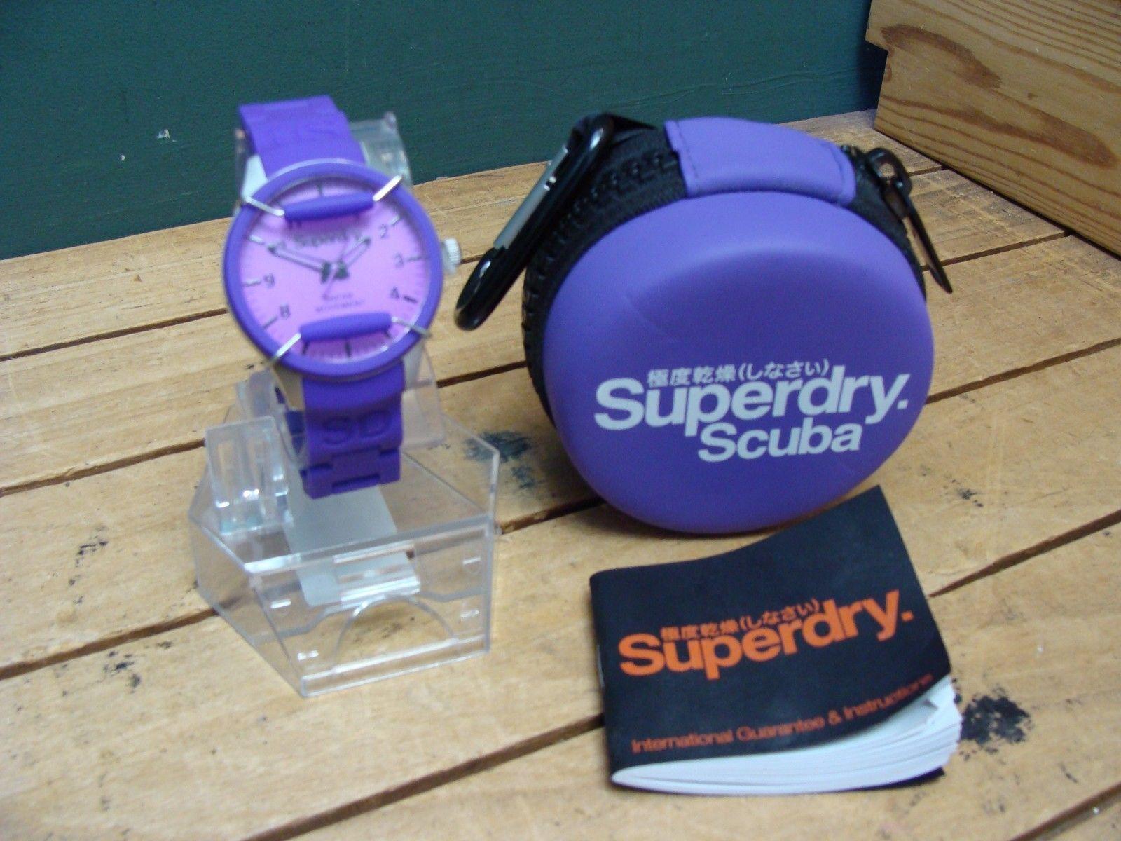 Ladies Superdry Purple Resin Scuba Watch  https://t.co/dCrutX6fIO https://t.co/ukwuik5ZeC