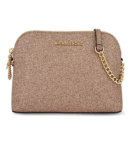 3b70558e81c MICHAEL MICHAEL KORS Alex large glitter cross-body bag. #michaelmichaelkors  #bags #shoulder bags #glitter #