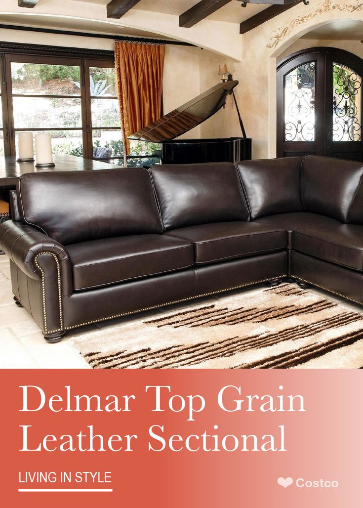 Sophisticated And Transitional The Delmar Top Grain Leather Sectional By Abbyson Living Will Br Leather Sectional Top Grain Leather Sectional Top Grain Leather