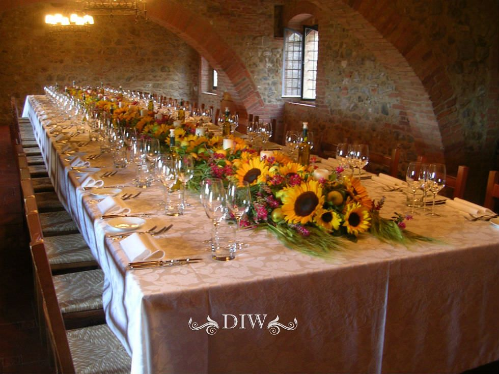Wedding In Tuscany Table Decor