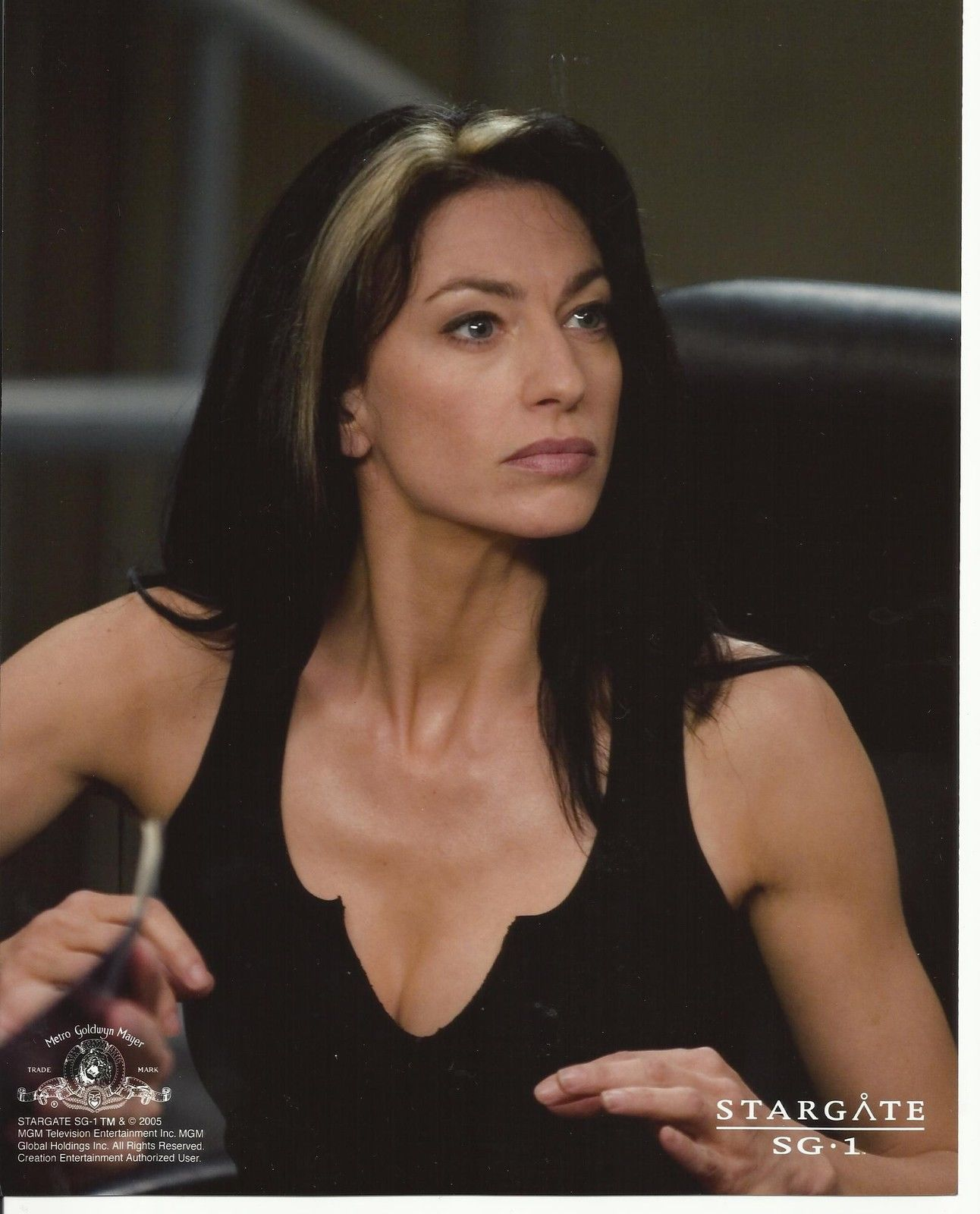 Stargate Sg 1 Claudia Black As Vala Mal Doran Wearing Black Tank 8