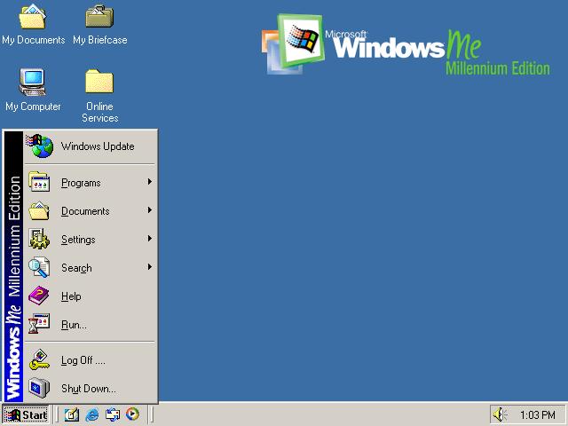 Windows Me Millennium Edition Computador
