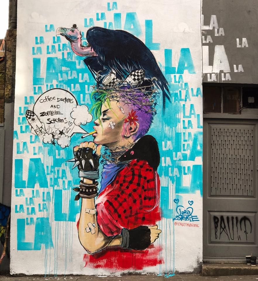 Street art by Laura Zombie | Streetart | Pinterest | Street art ...