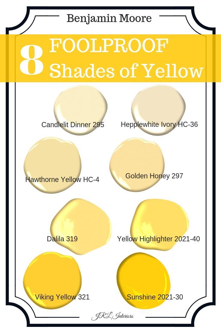 JRL Interiors — Shades of Yellow