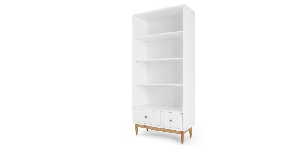 Willow Tall Bookcase Oak And White Made Com Tall Bookcases