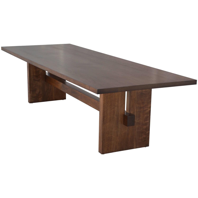 Black walnut trestle table trestle tables dining room for Dining room tables trestle