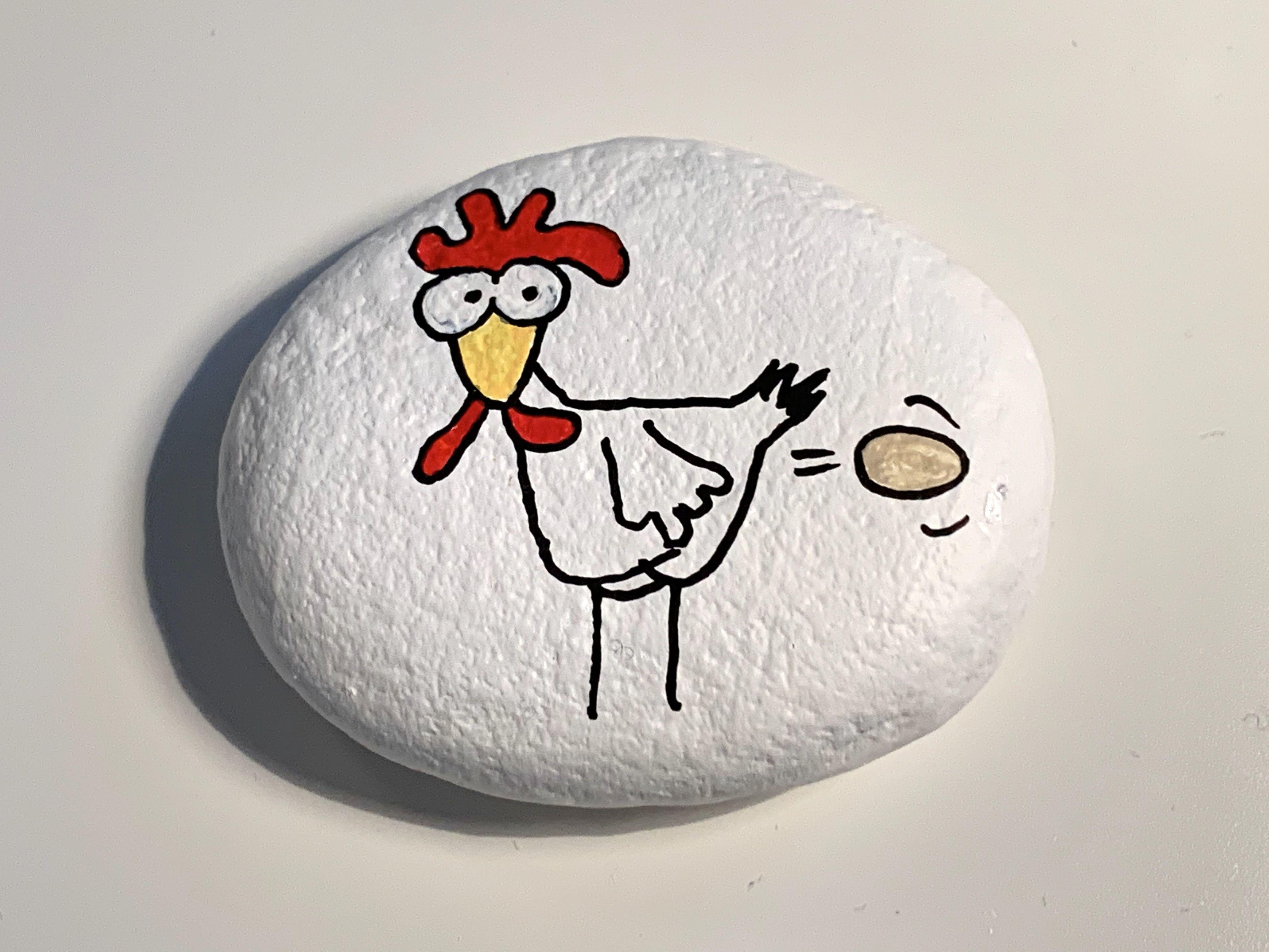 Steinmalerei - Rockart - Huhn
