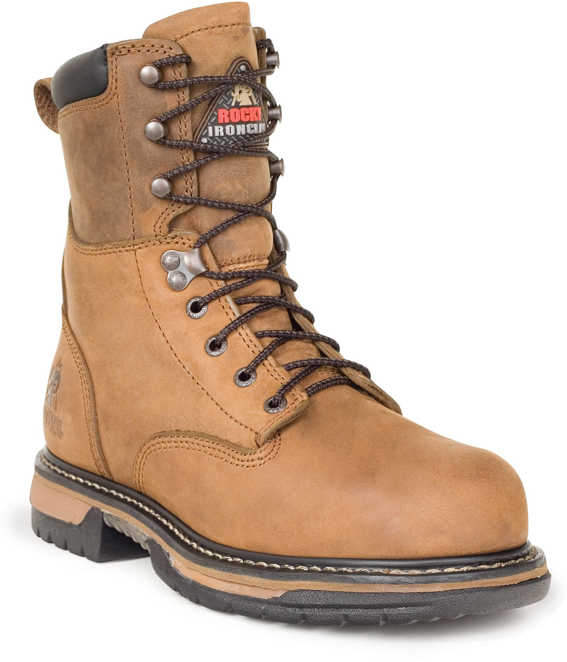 6692 Men's Safety Steel Ironclad Rocky Boots - Brown | Rocky Boots ...