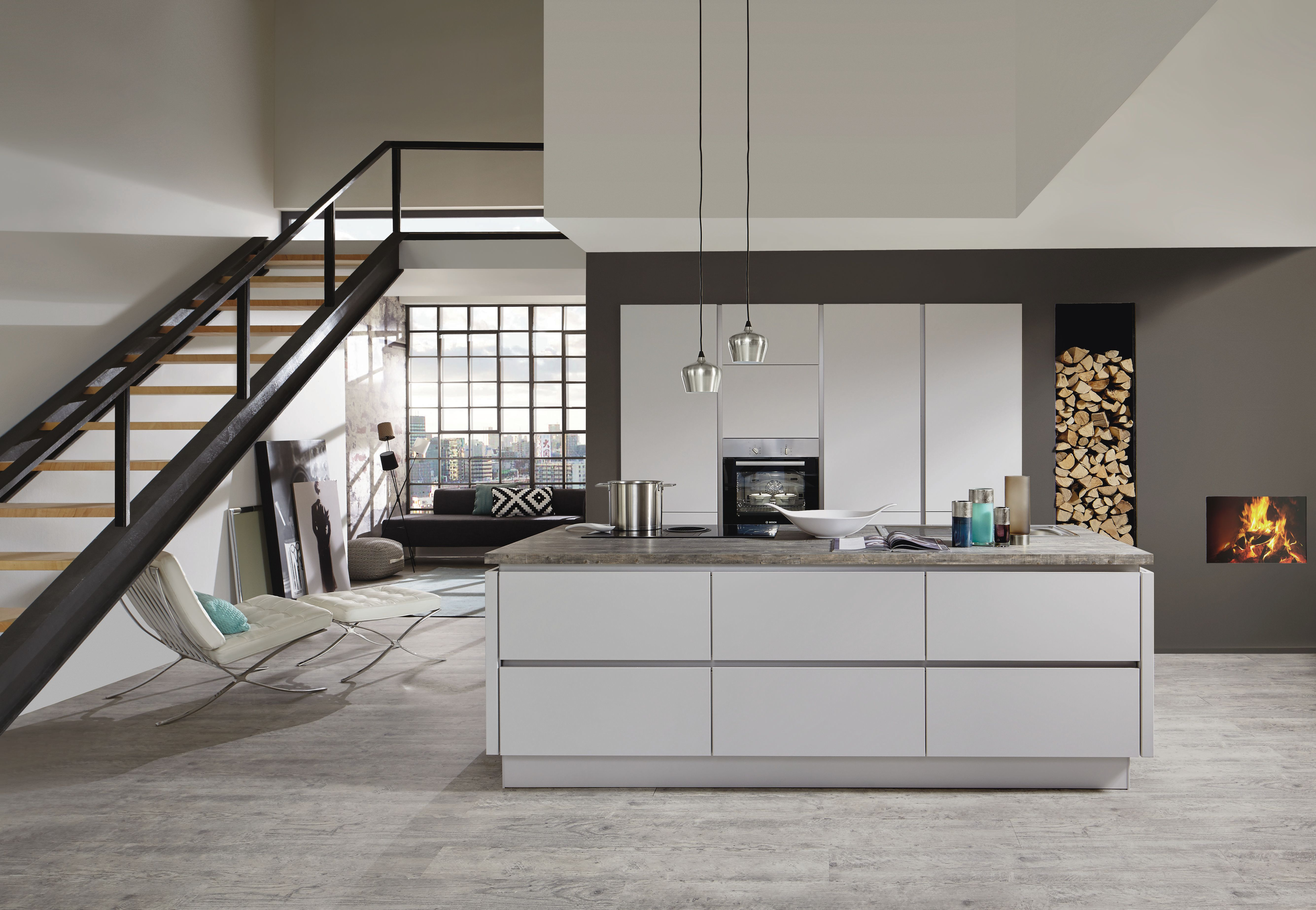 Die Fashion In Seidengrau Matt Lack 171 Home Kitchen Fittings White Modern Kitchen