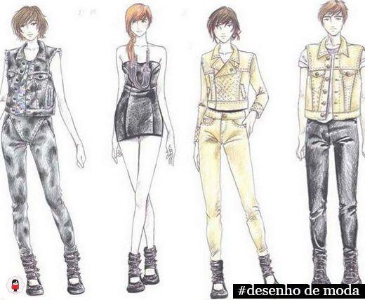 ilustrações femininas de moda