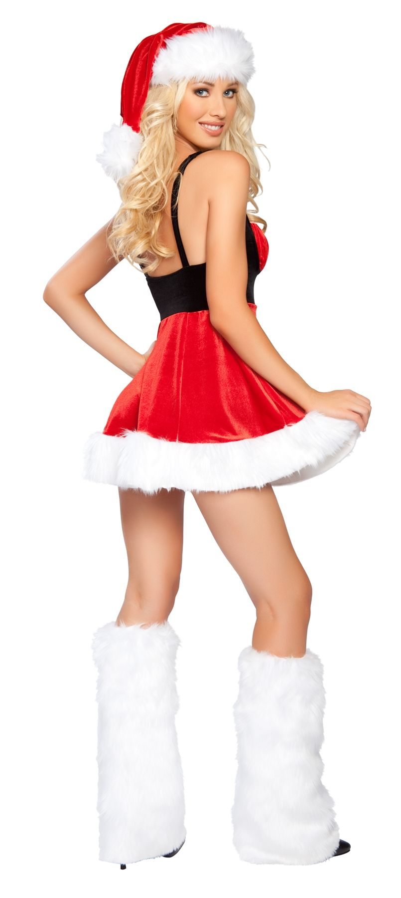 8a89426ad56 Sexy Roma Red White Christmas Mrs. Claus Hot Santa s Envy Lil  Little  Helper Holiday Costume