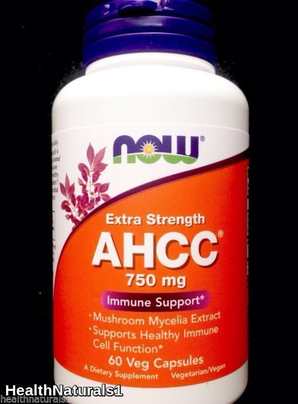 750mg Extra Strength Now Foods AHCC, 60 Vcaps (Immune Support) EXP:1