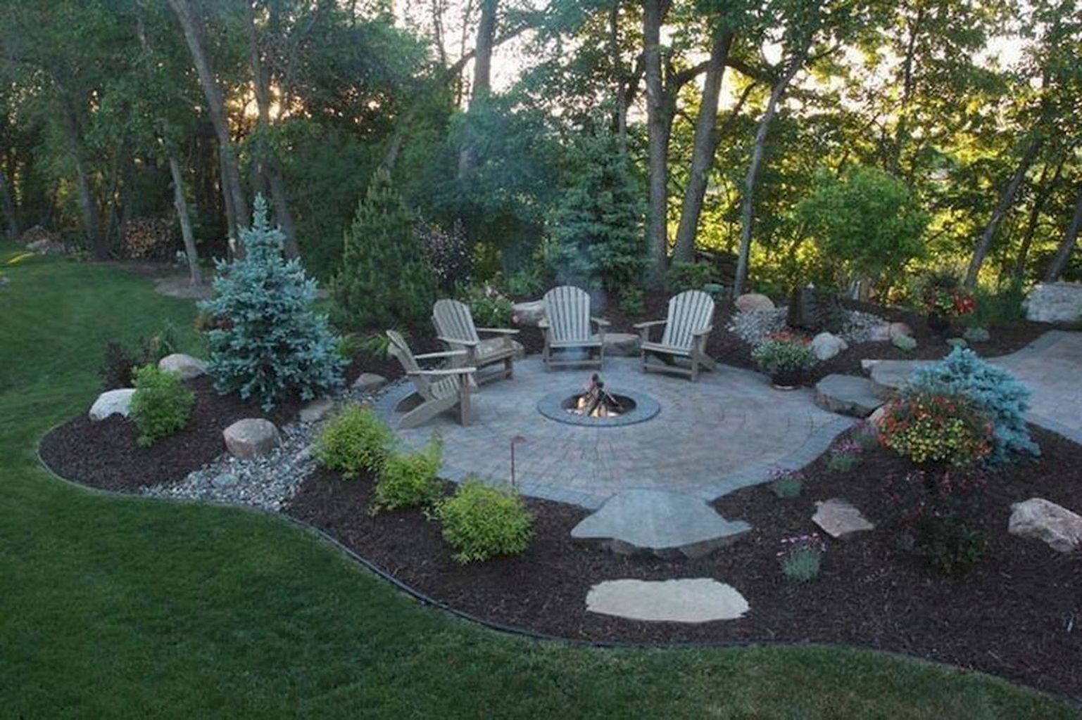 Photo of 60 Awesome Backyard Fire Pit Design Ideas – HomeIdeas.co#awesome #backyard #desi…