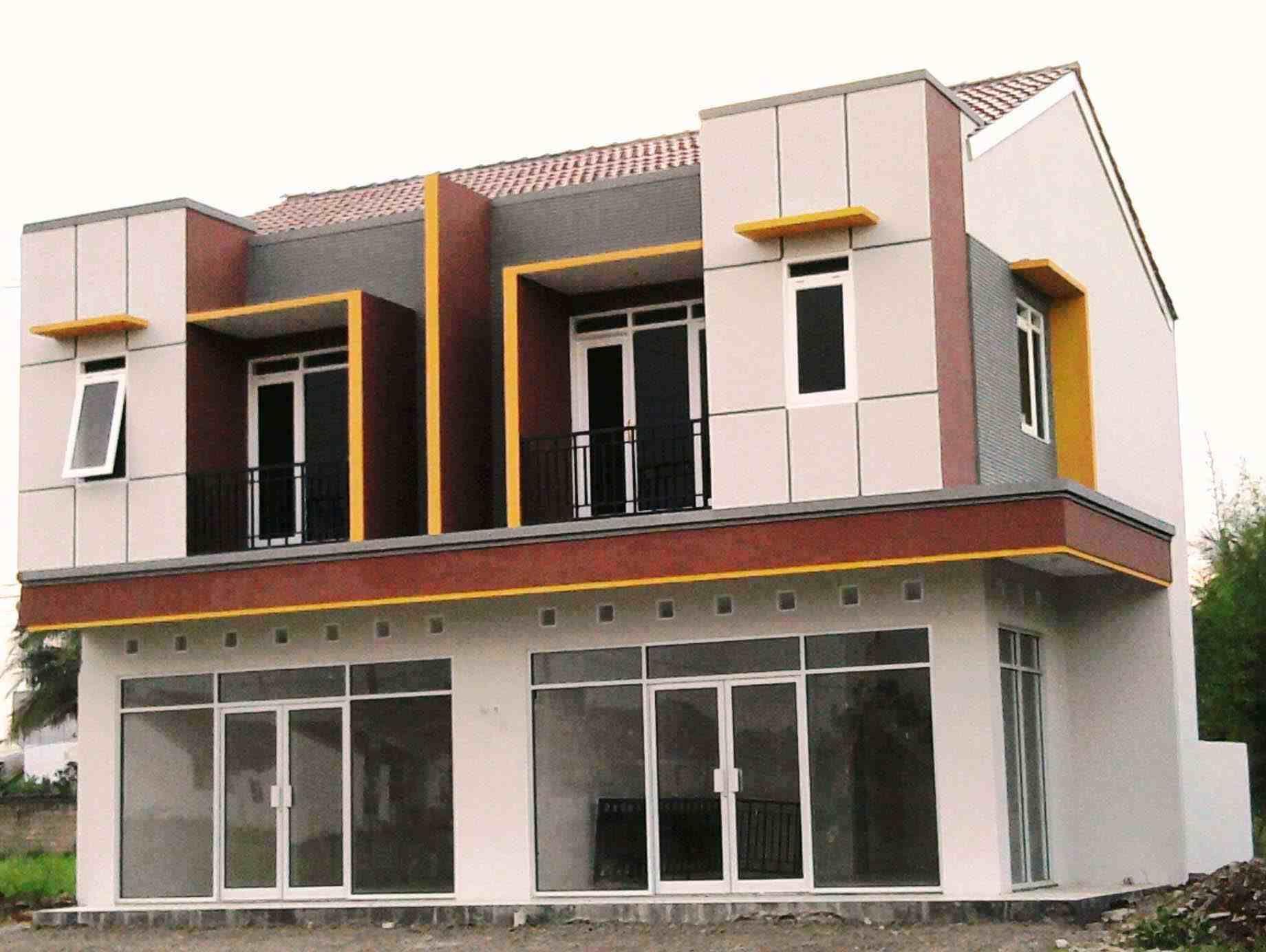 Foto Ruko Minimalis 2 Lantai Desain Eksterior Arsitektur Ruko