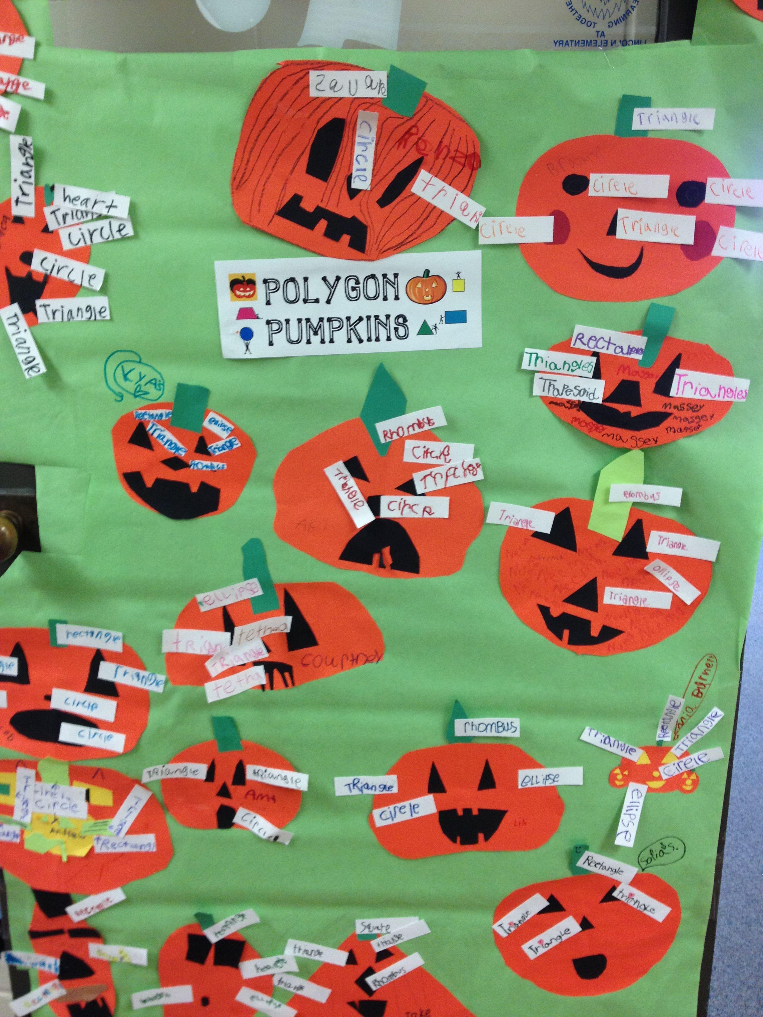Halloween Math Polygon Pumpkins Halloween math
