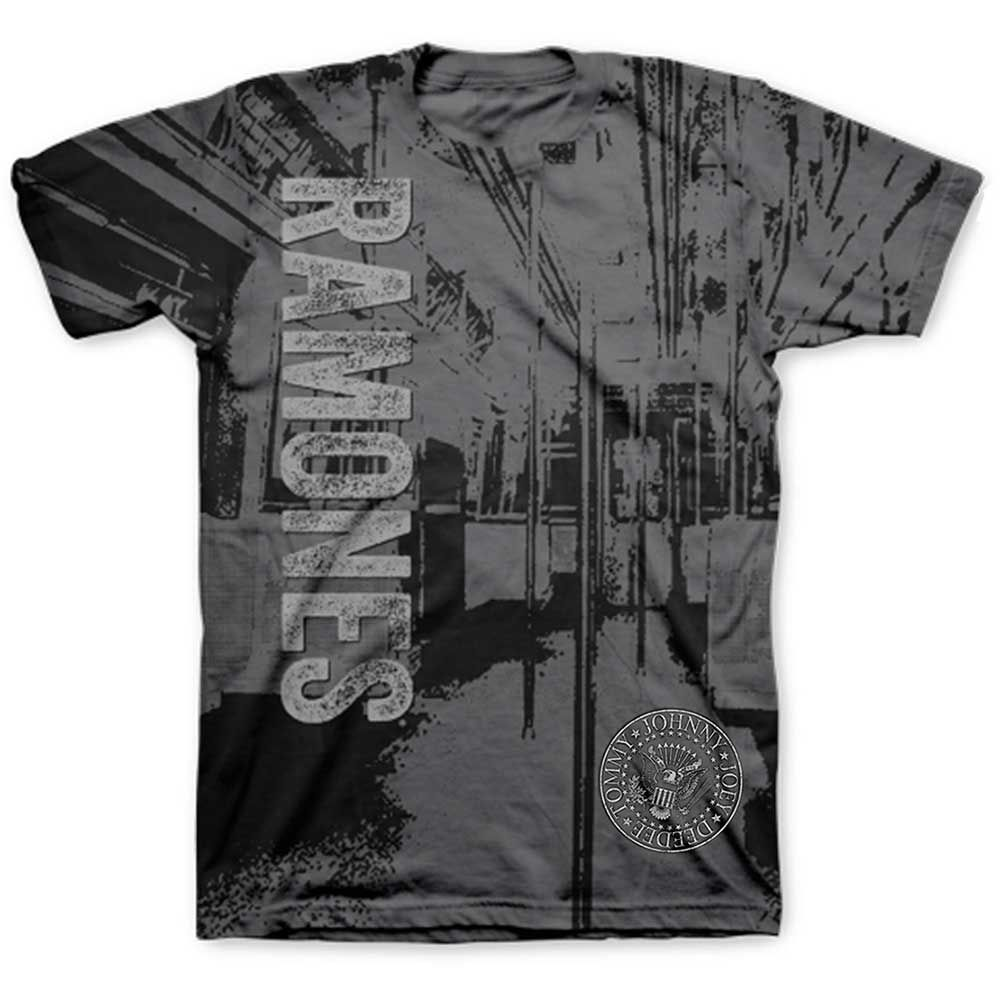 Ramones Subway Sublimation Presidential Seal Hey Ho Official Mens T-shirt