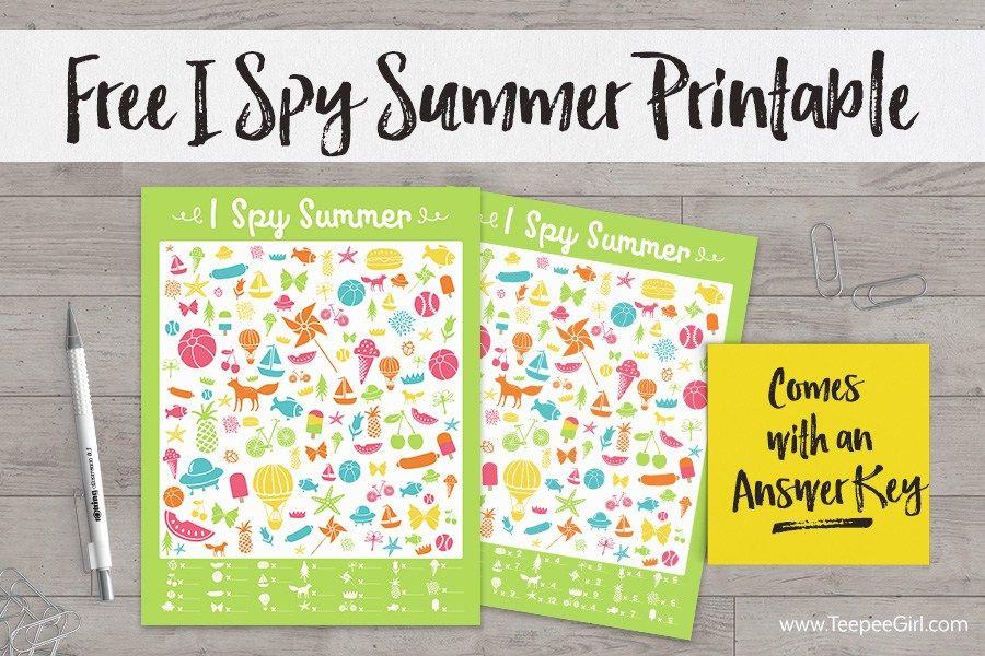 Free I Spy Summer Game  I Spy, Diy Fidget Spinner -9600