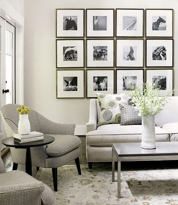 living room wall art decor modern furniture neutral colors on family picture wall ideas for living room furniture arrangements id=98868