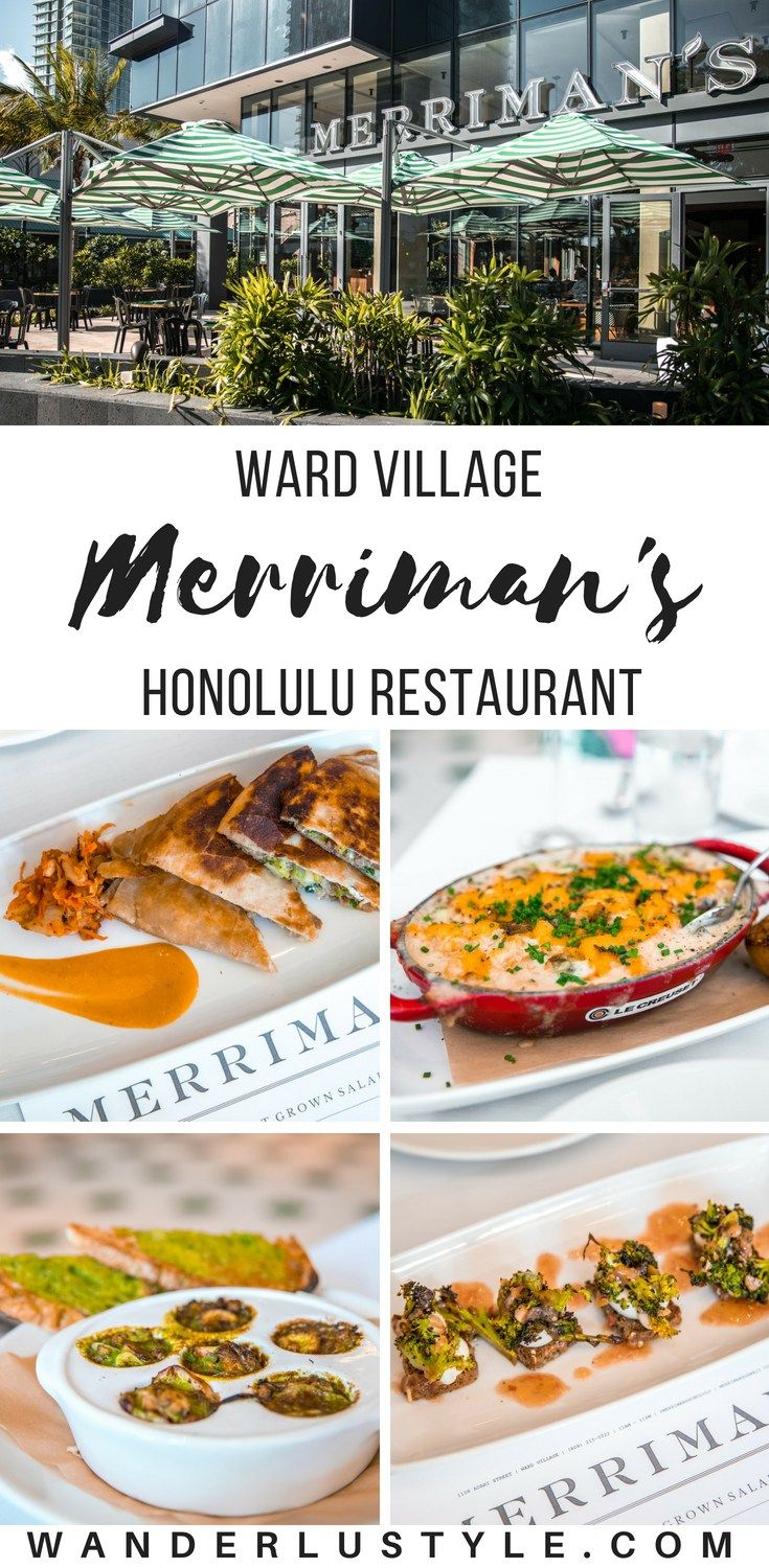 Merriman S Restaurant In Honolulu Hawaii Wanderlustyle
