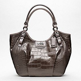 holy eff do I want this!!!    MADISON EMBOSSED CROC ABIGAIL SHOULDER BAG