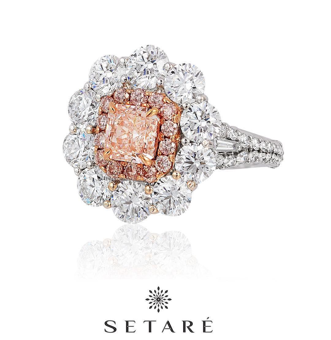 An elegant pink diamond ring by setare setare