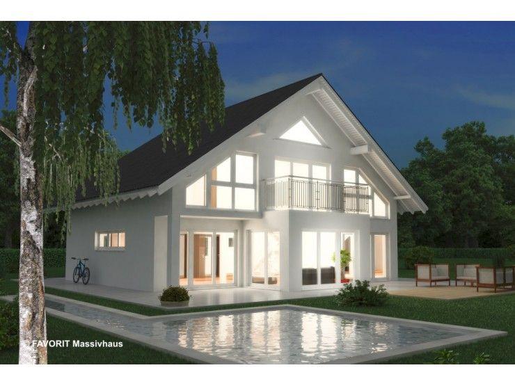 Noblesse 195 einfamilienhaus von bau braune inh sven for Bungalow modern satteldach