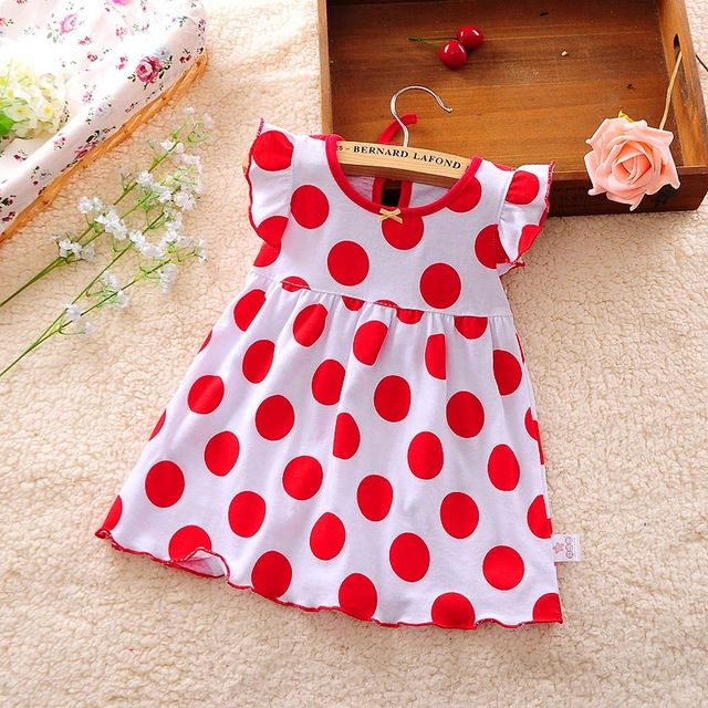 Baby Dresses 0-2 year Girls Infant Cotton Regular Clothing A-Line Sleeveless Clothes Printed Knee-Length Girl Kids Casual Dress