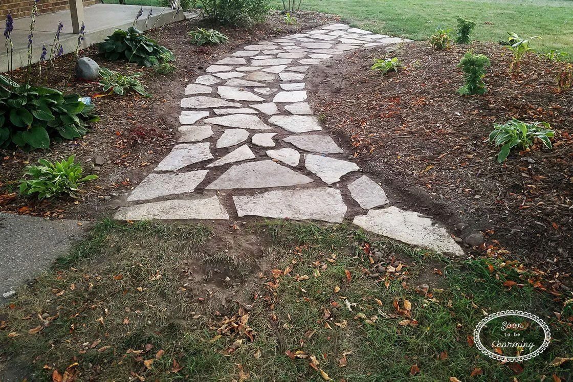 diy flagstone pathway with images flagstone pathway on extraordinary garden stone pathway ideas to copy id=73757