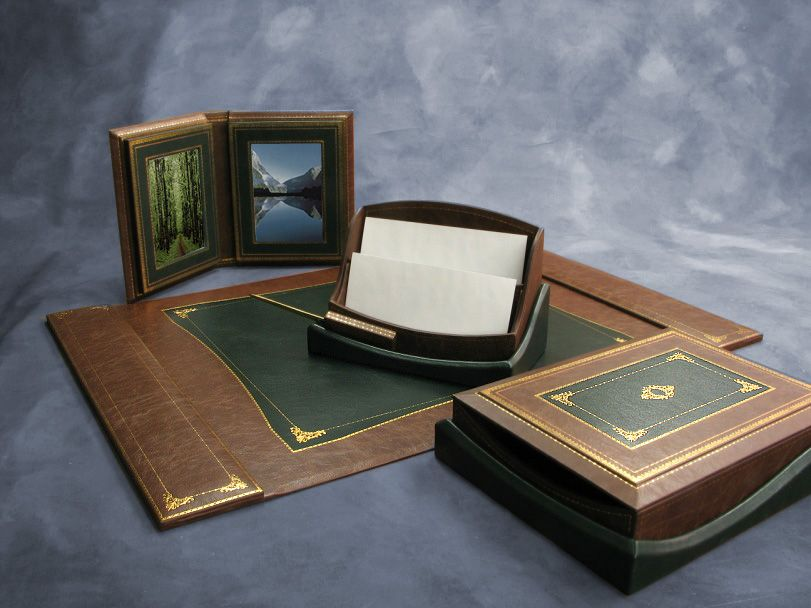 Perfect The Shevach Luxury Leather Desk Set Images
