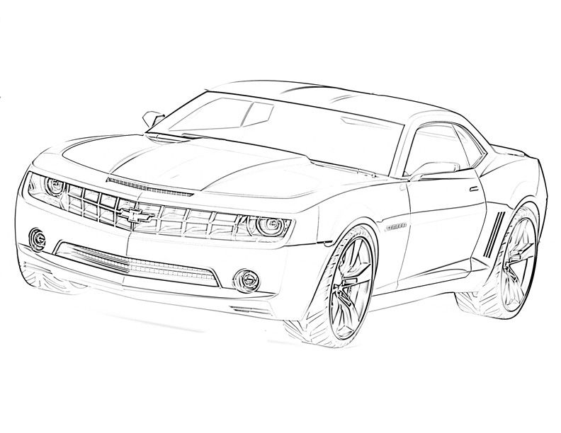 Transformers Car Sketch Colorasketch