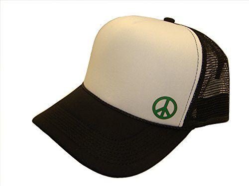 Sheliky Green Peace Symbol Side Logo Mesh Trucker Cap (One Size ... ebf5459c3e59