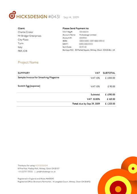 Invoice Like A Pro Design Examples And Best Practices Invoice - Graphic design invoice template