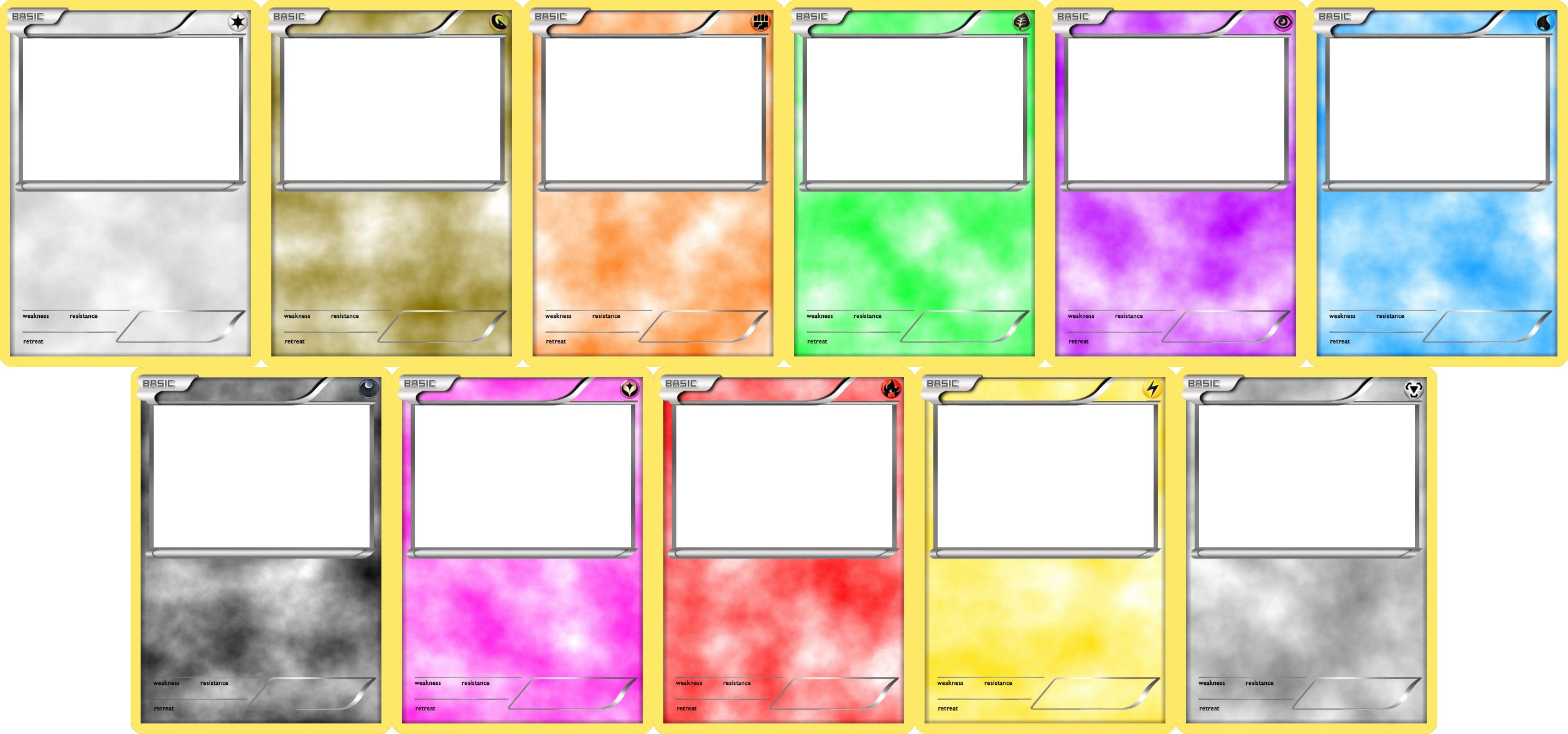 Blank Game Card Template Awesome Pokemon Blank Card