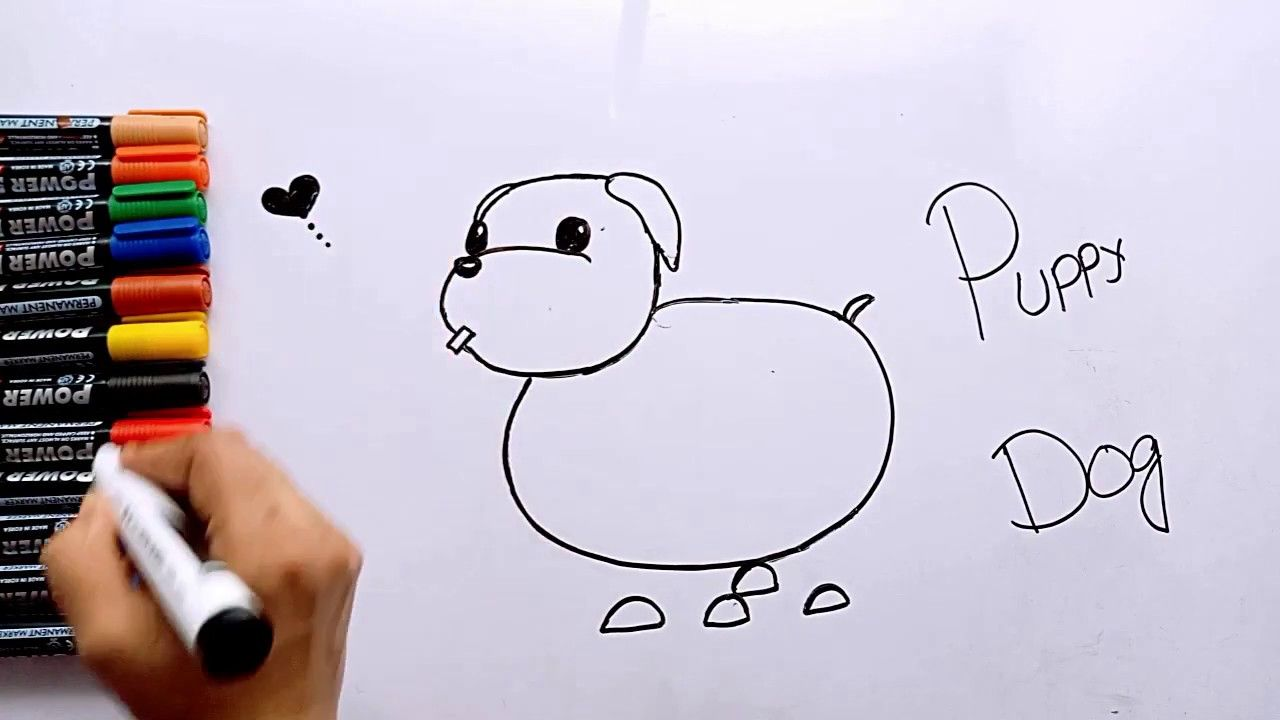 How To Draw Puppy Dog Step By Step Puppy Dog Drawing Easy Pic Draw For Kids Drawing