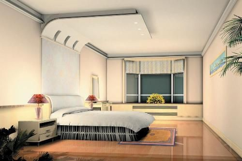 False Ceiling Designs For Modern Bedroom With White Themes