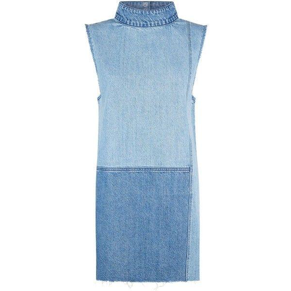 52ebd59f79 Ksubi Denim Patch Shift Dress ( 230) ❤ liked on Polyvore featuring dresses