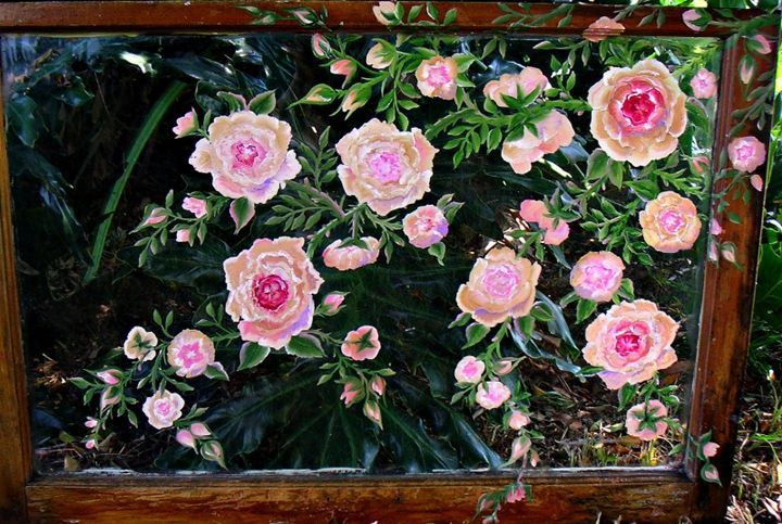 Antique Roses - Jeanette Designs - Paintings & Prints Flowers Plants & Trees Flowers… | ArtPal thumbnail