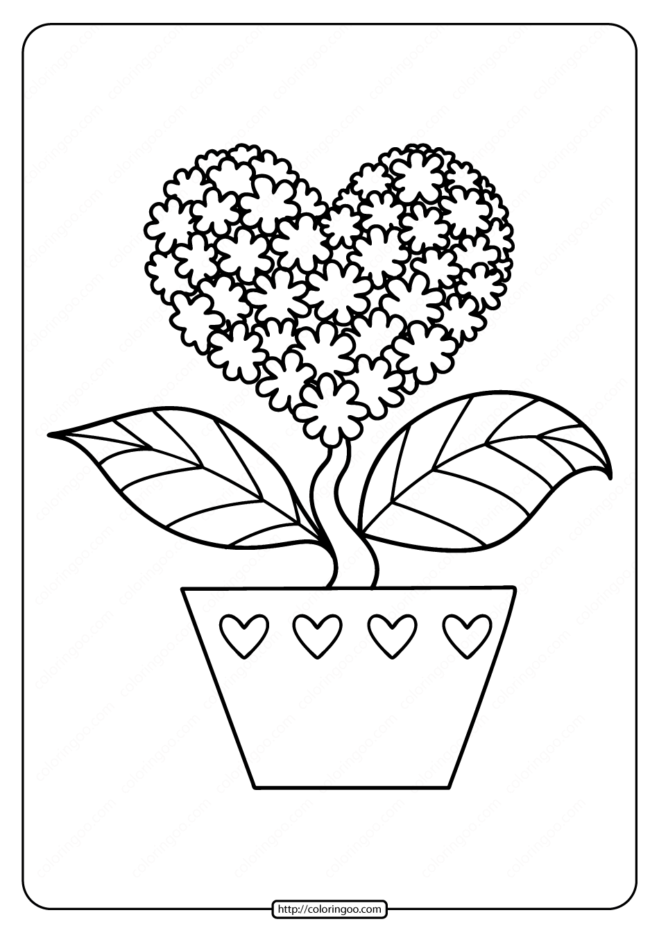 Coloring Pages Of Hearts And Flowers Heart Coloring Pages Love Coloring Pages Flower Coloring Pages