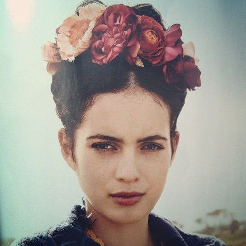 Braided Updo Frida Kahlo Esque Floral Accents Braided Updo Beauty Braids