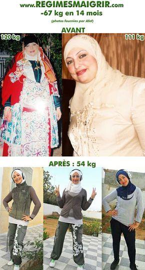 perte de poids avant après 1 mois