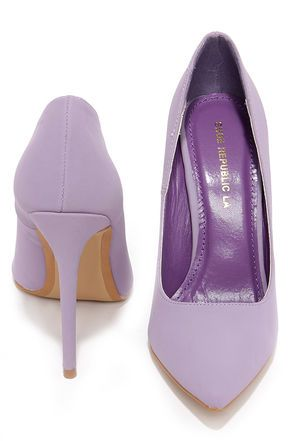 Cute Lavender Pumps - Pointed Pumps - Lavender Heels - $33.00