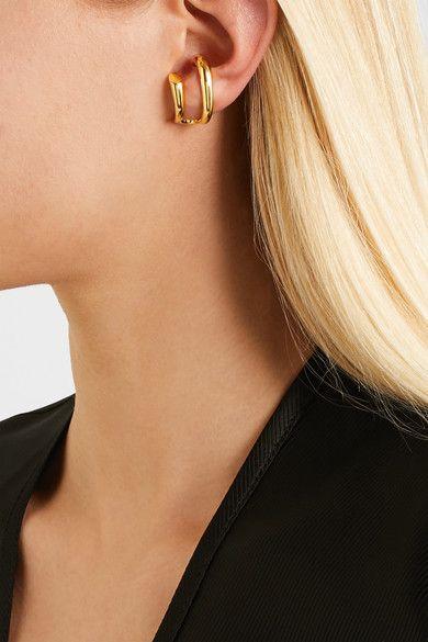 Initial Gold-dipped Earring - one size Charlotte Chesnais ysFgjNB