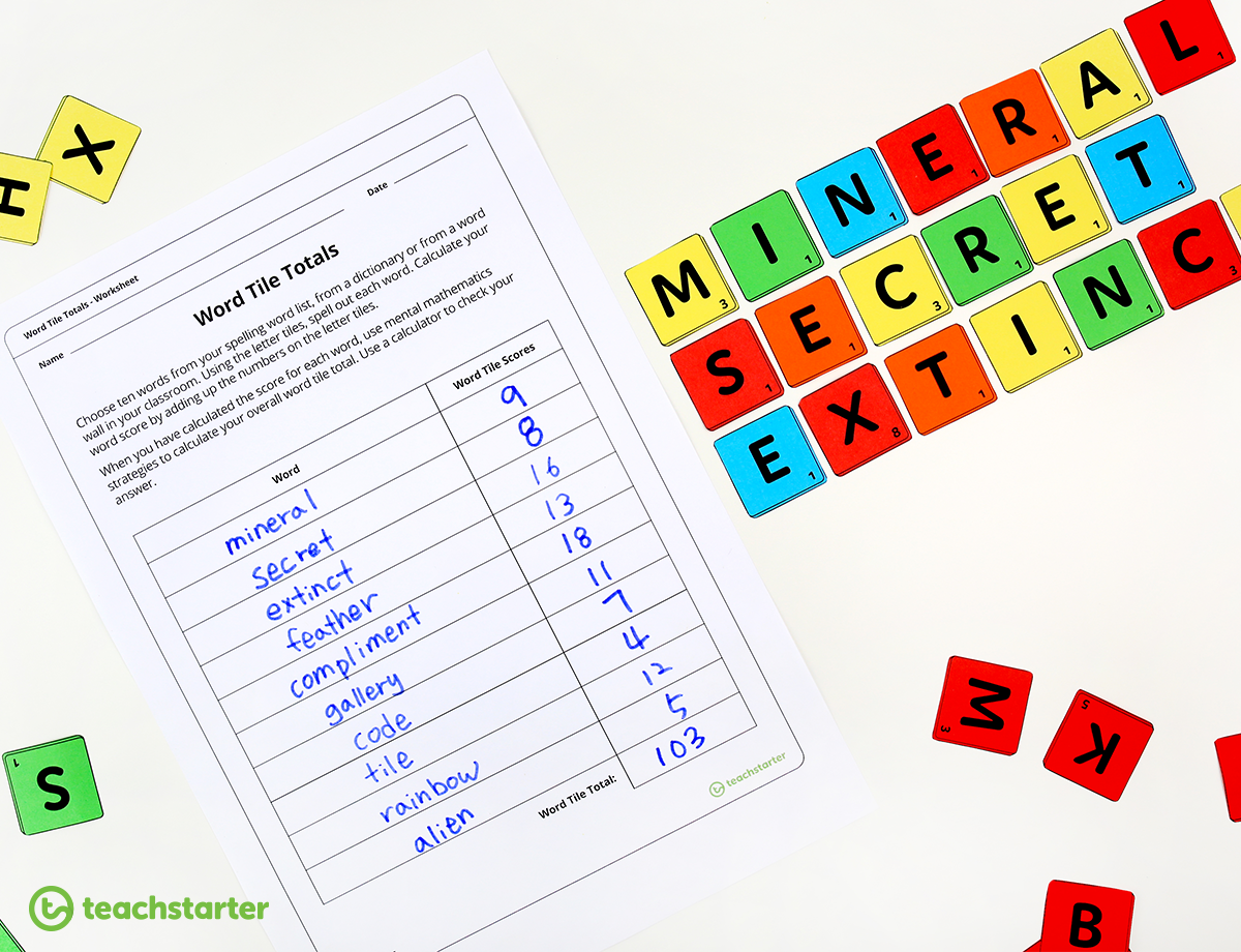 Word Tile Total Activity